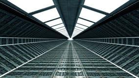 Futuristisk korridor vektor illustrationer