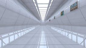 Futuristisk korridor Arkivfoto