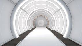 Futuristisk korridor Fotografering för Bildbyråer