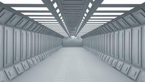 Futuristisk korridor Arkivbild