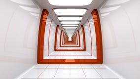 Futuristisk korridor Royaltyfria Bilder