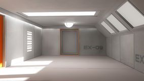 Futuristisk korridorinre Fotografering för Bildbyråer