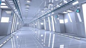 Futuristisk korridorinre Royaltyfri Bild