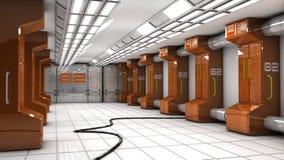 Futuristisk korridorSCIFI Royaltyfri Foto