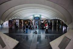 Futuristisk Liege-Guillemins järnvägsstation Royaltyfri Foto