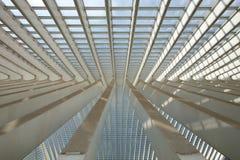 Futuristisk Liege-Guillemins järnvägsstation Royaltyfri Bild