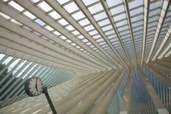 Futuristisk Liege-Guillemins järnvägsstation Arkivfoto