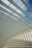 Futuristisk Liege-Guillemins järnvägsstation Royaltyfria Foton