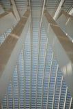 Futuristisk Liege-Guillemins järnvägsstation Royaltyfria Bilder