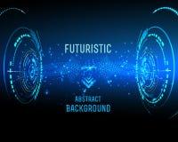 Futuristisk manöverenhet, HUD, bakgrund Royaltyfria Foton