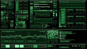 Futuristisk manöverenhet   HUD   Digital skärm arkivfilmer