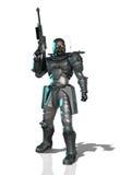 Futuristisk manlig soldat stock illustrationer