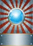 Futuristisk metallisk bakgrund Royaltyfria Bilder