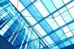 Futuristisk modern byggnadsinre Arkivfoto