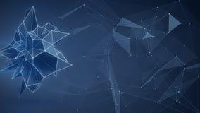 Futuristisk nätverksform abstrakt begrepp 3d framför Arkivfoto