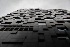 Futuristisk och modern byggnad i modern stad royaltyfri bild