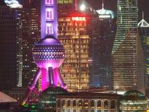 Futuristisk Pudong arkitektur för Shanghai ` s Arkivbild