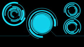 Futuristisk rörelseHUD skärm vektor illustrationer