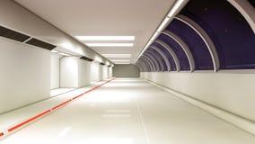 Futuristisk rymdskeppinrekorridor Royaltyfri Bild