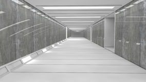 Futuristisk rymdskeppinrekorridor Arkivfoto