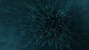 Futuristisk sömlös öglasanimering av linjer och prickar Abstrakt begrepp vinkar bakgrund stock video