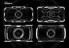 Futuristisk science fictionteknologi HUD Screen stock illustrationer