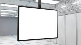 futuristisk skärm 3d Fotografering för Bildbyråer