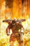 Futuristisk soldat på kriget Royaltyfria Foton