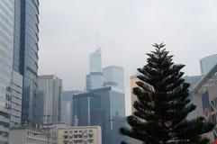 Futuristisk stad Hong Kong Royaltyfria Bilder