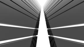 Futuristisk svartvit bakgrund Arkivbilder