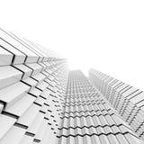 Futuristisk svartvit bakgrund Royaltyfria Bilder