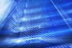 Futuristisk technodesign på bakgrund av den fantastiska supercomputeren Royaltyfri Fotografi