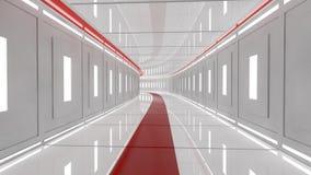 Futuristisk teknologiinrearkitektur Arkivfoto