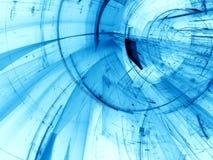 Futuristisk tunnel - frambragd bild för abstrakt begrepp digitalt Arkivfoton