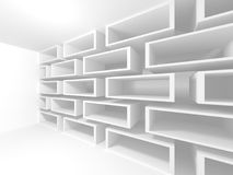 Futuristisk vit arkitekturdesignbakgrund Arkivfoto