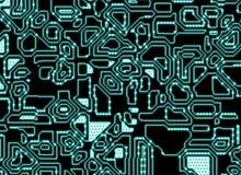 Futuristiska abstrakta neonintrigbakgrunder. digital slät text Fotografering för Bildbyråer