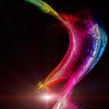 Futuristiska färger och ljus Royaltyfri Bild