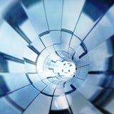 Futuristiska former för blå abstrakt form Royaltyfria Foton