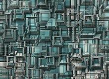 Futuristiska industriella stadsabstrakt begreppbakgrunder Royaltyfri Fotografi