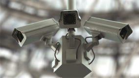 Futuristiska säkerhetskameror arkivfilmer