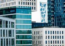Futuristiska skyskrapor i Oslo, Norge Royaltyfria Foton