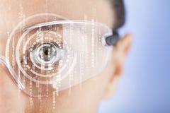 Futuristiska smarta exponeringsglas Arkivbilder