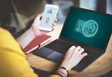 Futuristiskt avancerat begrepp för teknologiDigital innovation Fotografering för Bildbyråer