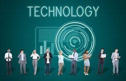 Futuristiskt avancerat begrepp för teknologiDigital innovation arkivbild