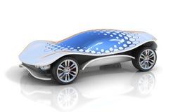 Futuristiskt begrepp för bil 3d Arkivfoton