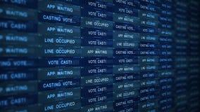 Futuristiskt begrepp för Digital serverteknologi - klara av online-rösta V2 arkivfilmer
