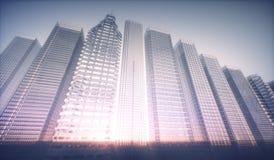 futuristiskt begrepp för stad 3D Royaltyfri Bild