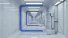 Futuristiskt korridorfrämlingrymdskepp Royaltyfri Bild