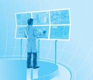 Futuristiskt laboratorium royaltyfri illustrationer