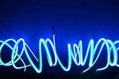 Futuristiskt neon Arkivbild